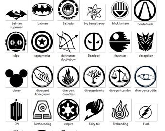 Large Fandom Decals, Vinyl Decals, Teens, Fangirls,Fanboys, Nerds, Geeks, Car Vinyl Decals, Multiple fandoms