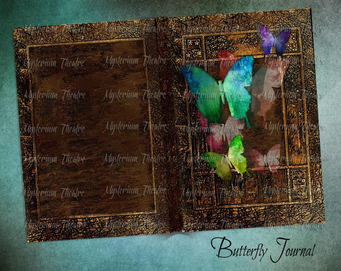 Digital Journal Book Covers Butterfly Garden Printable
