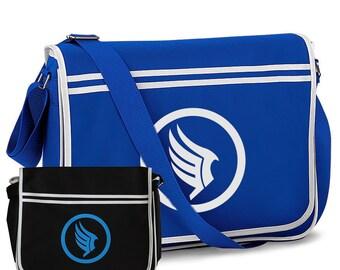 Mass Effect Paragon Gaming Geek Nerd Shoulder Messenger Bag Black Royal Blue