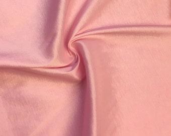 "Pink Taffeta Stretch Fabric 2-Way Stretch 58"" Wide By The Yard"
