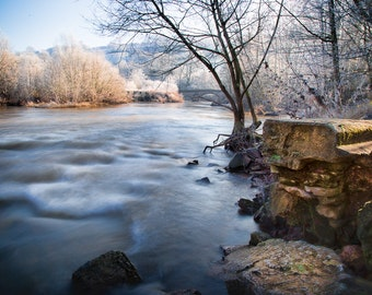 Welsh Landscape Photography, River, Frosty Morning, Wales