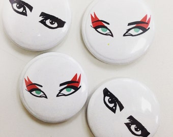 Siouxie and Stains pinback buttons