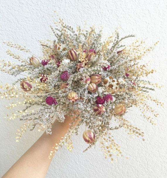 fleurs s ch es bouquet de mari e fait sur commande. Black Bedroom Furniture Sets. Home Design Ideas