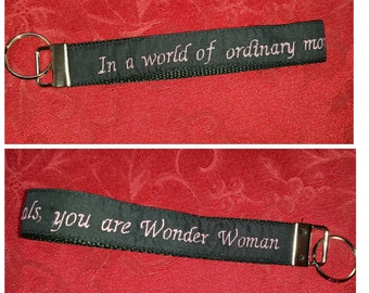 """Wonder Woman inspired wristlet """"In a world of ordinary mortals, you are Wonder Woman!"""""""