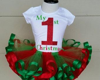 My 1st Christmas tutu set