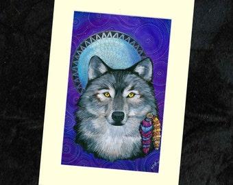 Wolf Mounted Print