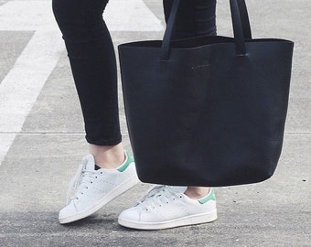Abbie - Large Leather Tote Bag