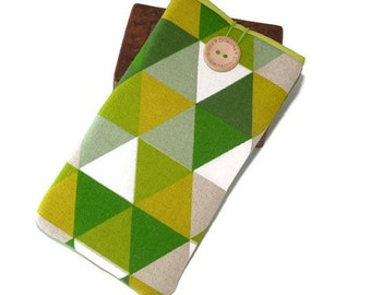 Green Geometric iPhone 7 Plus Pouch / Iphone 5 Sleeve / iPhone 6s case / iPhone 6s Plus Cover / iPhone SE Case / Cell phone pouch