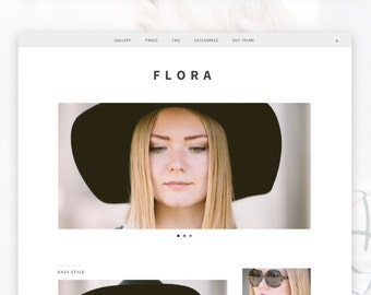 Responsive Wordpress Theme- Flora