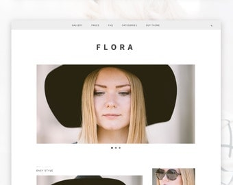 Responsive Wordpress Theme- Flora
