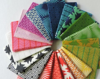 NEW 2016 True Colors Fat Quarter Bundle by Heather Bailey for Free Spirit Fabrics