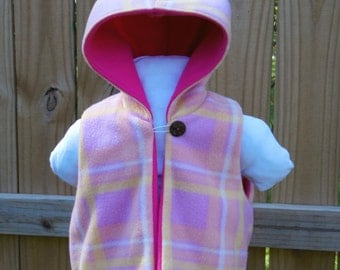 Pixie Hooded Vest - Girls Hooded Vest - Size 4 years
