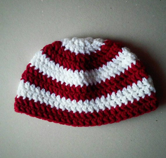 crochet hat, Indiana University hat, winter ceochet hat, holiday crochet hat