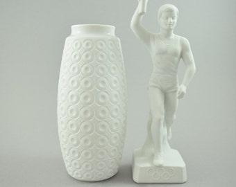 Vintage bisque porcelain vase bei Edelstein Bavaria Germany,