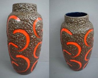 Fantastic vintage floor vase / Scheurich / 553 52 / Fat Lava | West Germany | WGP | 60s