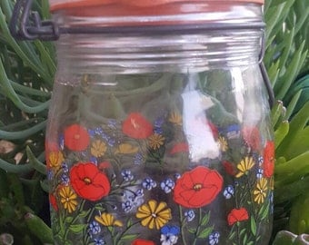 French 3 Liter poppy container