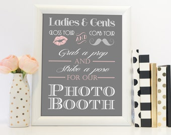 Wedding Photo Booth Sign Printables - Instant Downloads, GB40, GB50, GB60, GBWD