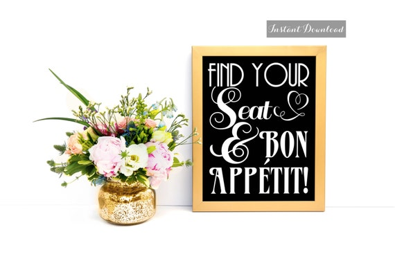 seat assignment printable wedding reception by msprintables