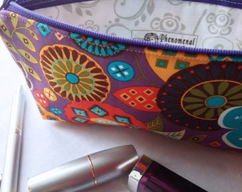 Southwest Pencil Pouch, Cute Pencil Case, Long Zipper Bag, Makeup Case, Cosmetic Bag