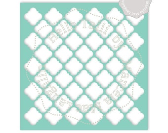 Mosaics Stencil SVG CUTTING FILES- Digital Trellis template Quatrefoil overlay Tiles Pattern Svg Dxf Studio3 Png clipart Mosaique arabesque