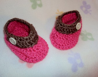 Pink Baby Booties- 6-9 Months- Cyber Monday Sale