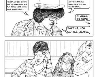 UHF: Shut Up You Little Weasel! - Black and White Print - Comics & Cartoons - Scene - Movies - Weird Al Yankovic