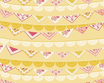 1 Yard Vintage Daydream by Design by Dani for Riley Blake Designs-5561 Gold Banner