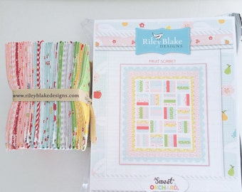 "SALE!! Quilt Kit Sweet Orchard by Sedef Imer of Down Grapevine Lane for Riley Blake Designs - Fruit Sorbet Finished Size 56.5"" x 66"""
