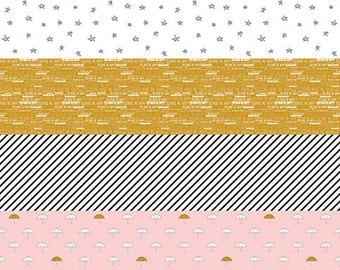 SALE!! 1 Yard When Skies are Grey by Simple Simon and Co. for Riley Blake Designs - 5601 Pink  Panel