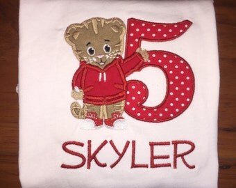 Daniel Tiger Birthday Shirt