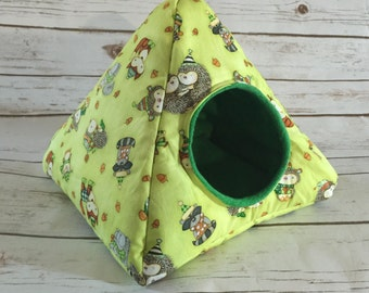 Hedgehog Bed | Guinea Pig Bed | Small Animal Bed | Hedgehog House | Guinea Pig House  | Rat Bed | Tent Custom Pick from 200 Fabrics