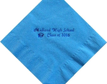 Personalized Graduation Beverage Napkins for Class of 2017
