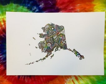Bright Colored Rainbow 11x17 Alaska Art Print