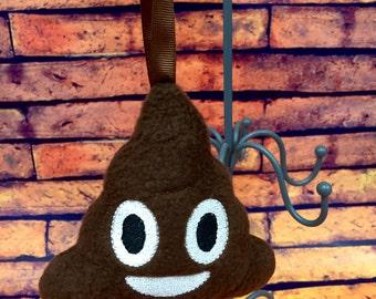 Stuffed Poo Poop Emoji Christmas Ornament, Car Ornament, Room Decor