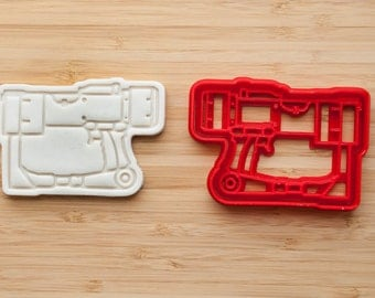Fallout. Laser rifle  cookie cutter. Cookie Cupcake Topper Fondant Ginger