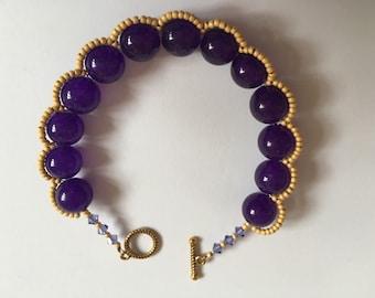 Purple jade 'allure' bracelet