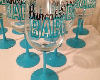 Set of 12 Bunco glasses