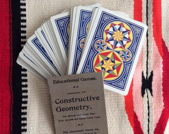 antique geometry game cards