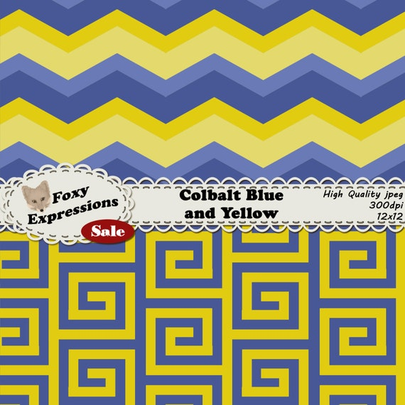 calbalt blue and yellow pack in fun chevron polka dots stripes lattice damask and reverse. Black Bedroom Furniture Sets. Home Design Ideas