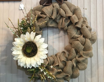 Burlap Wreath Made to Order