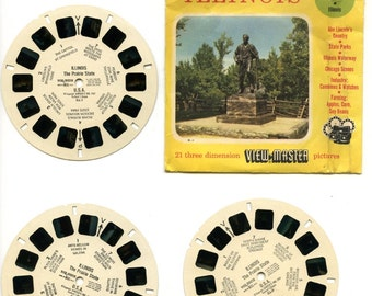 "70's view-master reels, ""Illinois"". No booklet"