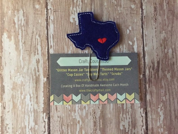 Don't Mess With Texas Paper Clip. Texas planner clip. State planner clip. U.S. planner clip