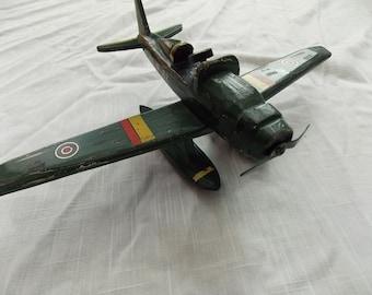vintage wooden airplane toy or display
