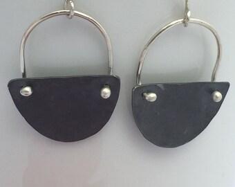 Oxidized Sterling Silver Dangle Earrings