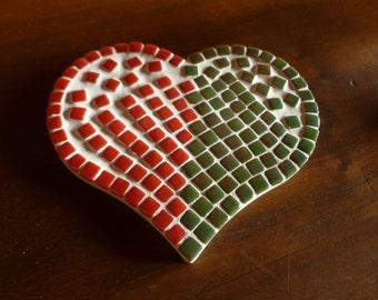 Decorative mosaic heart