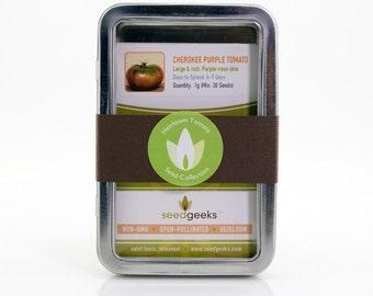 Heirloom Tomato Garden Gift Set Seed Collection - Non-GMO, Open Pollinated, Untreated - Seed Kit, Garden Kit