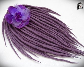 "Wool Dreadlocks Dreads "" Blooming Heather "" DE"