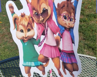 Chipettes centerpiece cut outs, cake toppers, chippettes birthday party