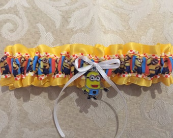 Minions wedding garter