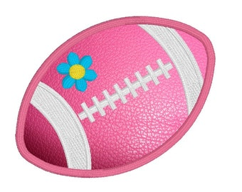 Football Applique Design for Girls, Sportsball Machine Embroidery Design No: JGS00023-1